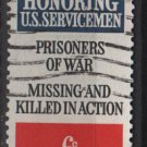 USA 1970 - Scott 1422 used - 6c, Prisoners of War missing & Killed in action   (12-514)