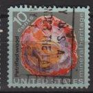 US 1974 - Scott 1538 used - 10c, Minerals,  Petrified wood (12-533)