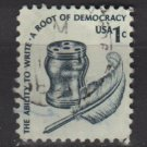 USA 1975 - Scott 1581 used - 1c, Americana issue, Inkwell & Quill  (12-545)