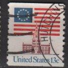 USA 1975 - Scott 1625 used - 13c, 13-star flag, independence Hall  (12-557)