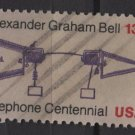 USA 1976 - Scott 1683 used - 13c,  Telephone Cent. A. Graham Bell   (o-205)
