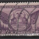 USA 1935 - Scott 775 used - 3c, Michigan Centennary (A-225)