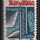 USA 1966 - Scott 1312 used - 5c, Bill of Rights, Freedom checking Tyranny (13-23)