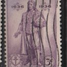 USA  1936 - Scott 777 used - 3c, Rhode Island Tercent. (13-24)