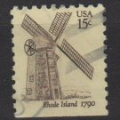USA 1980 - Scott 1739 used - 15c, Windmill Rhode Islands (A-109)