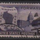 USA 1948 - Scott 957 used - 3c, Wisconsin Statehood   (B-120)