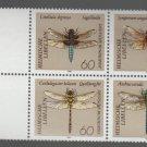 Germany 1991 - Scott 1674a , block 4, MNH- 60 pf, Dragonfly (B-707)