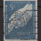United Nations 1951 - Scott 5 used - 5c,  UN Children's Fund  (B-767)