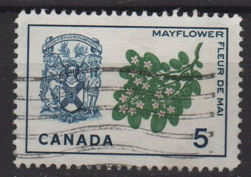 CANADA 1964 - Scott 420 used - 5c, Mayflower & Arms (10-452)