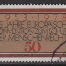 GERMANY 1978 - Scott 1280 used - European Human Rights Convention (T-358)