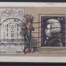 Germany 1991 -Scott 1691 used sheetlet - 100pf, Wolfgang Amadeus Mozart  (P-279)