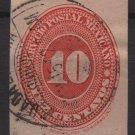 Mexico 1887 - Scott 187 used - 10c, Numeral (R-655)