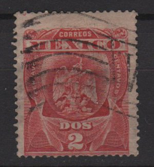 Mexico 1899 - Scott 295 used - 2c, Coat of Arms (Co-543)