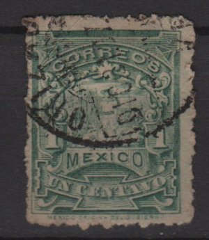 Mexico 1898 - Scott  279  used - 1c, letter carrier (Co-542)
