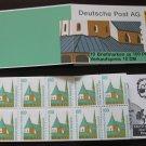 Germany 1987/96 - Scott 1530c Booklet pane of 10 Mint - 100pf, Historic sites (ma-106)