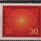 Germany 1969 - Scott 1004 MNH - 30pf, Protestants, Hungry for Justice  (Co705)