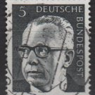 Germany 1970 - Scott 1028 used - 5 pf, Pres. G. Heinemann (Q-145)