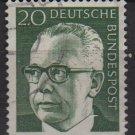 Germany 1970 - Scott 1030 used - 20 pf, Pres. G. Heinemann (R-251)