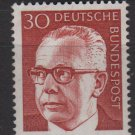 Germany 1970 - Scott 1031 MNH - 30 pf, Pres. G. Heinemann (Ra-92)