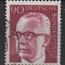 Germany 1970 - Scott 1037 used - 90 pf, Pres. G. Heinemann (Red - 115)