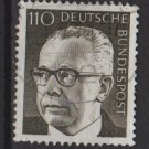 Germany 1970 - Scott 1038a used - 110 pf, Pres. G. Heinemann (Red-220)
