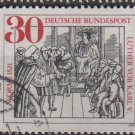 Germany 1971 -Scott 1063 used- 30pf, Luther Facing Charles V   (T-86)