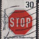 Germany 1971 - Scott 1057 used - 30 pf, Taffic signs, STOP  (S-567)