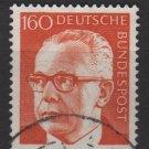 Germany 1970 - Scott 1042 used - 160 pf, Pres. G. Heinemann (S-139)