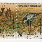 Burundi Airmail 1970 - Scott C134 block of 4 CTO, folded - 14 fr, Birds (C-297)