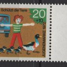 Germany 1971 -Scott B481 MNH- 20pf + 10pf, Animal protection  (Red-162)