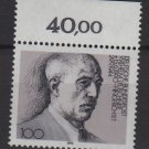 Germany 1990 - Scott 1606 MNH - 100pf, Wilhelm Leuschner  (Red-302)