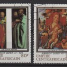 Central African Republic 1978 - Scott 345-348 (4) CTO- Durer painting (13-195)