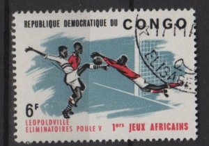 Congo Democratic 1965 - Scott 29 CTO - 1st African Game, Soccer (C-760)
