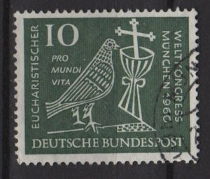 Germany 1960 - Scott 811 used - 10pf, Eucharistic World Congress (13-281)