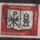 Germany 1962 - Scott 851 used - 20pf, Wurttemberg Bible  (F-301)