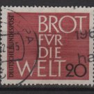 Germany 1962 - Scott  854 used - 20pf, Bread for the World (13-303)