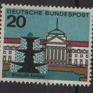 Germany 1964 -Scott  873 MNH- 20pf, Wiesbaden, Fountain (13-323)