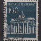 Germany 1966 - Scott  956 used - 100 pf, Brandenburg Gate  (13-403)