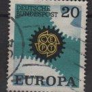 Germany 1967 - Scott  969 used - 20pf, Europa, Common design (13-421)