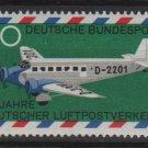 Germany 1969 - Scott 993 MNH- 20pf, Airmail plane (13-443)