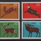 Germany 1966 - Scott  B412-B415 (4) MNH - Deer (9-391)