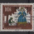 Germany 1966 - Scott  B418 used- 10+5pf,  The Princess & the Frog (13-469)