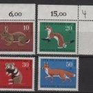 Germany 1967 -Scott  B422-B425 (4) MNH - Animals type of '66 (9-379)