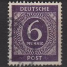 Germany 1946 - Scott 535 used - 6 pf, Numeral (13-504)