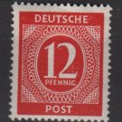 Germany 1946 - Scott 538 MNH - 12 pf, Numeral (13-514)