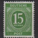 Germany 1946 - Scott 541 MH - 15 pf, Numeral (13-524)