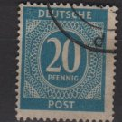 Germany 1946 - Scott 543 used - 20 pf, Numeral (13-533)