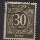 Germany 1946 - Scott 547 used - 30 pf, Numeral (13-544)