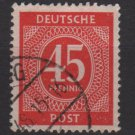 Germany 1946 - Scott 550 used - 45 pf, Numeral (13-553)