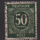 Germany 1946 - Scott 551 used - 50 pf, Numeral (13-554)